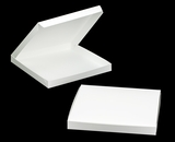 "3318 - 14"" x 14"" x 1 1/2"" White/White Lock & Tab Cookie Box without Window"