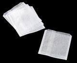 "3325 - 6"" x 3/4"" x 6 1/2"" Pastry / Cookie Bag, Dry Wax, White - 1000ct. D06"