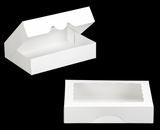 "3337 - 11 1/2"" x 8 1/4"" x 2 1/2"" White/White with Window, Timesaver Box With Lid. A23"