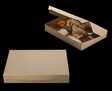 """3342 - 16"""" x 11 1/2"""" x 2 1/2"""" Brown/Brown Lock & Tab Pastry Box without Window"""