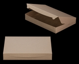 "3342 - 16"" x 11 1/2"" x 2 1/2"" Brown/Brown without, Window Lock & Tab Box With Lid. A33"