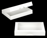 "3343 - 16"" x 11 1/2"" x 2 1/2"" White/White with Window, Timesaver Box With Lid"