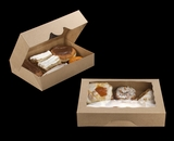"""3367 - 11 1/2"""" x 8 1/4"""" x 2 1/2"""" Brown/Brown Timesaver Pastry with Window"""