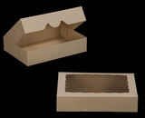 "3367 - 11 1/2"" x 8 1/4"" x 2 1/2"" Brown/Brown with Window, Timesaver Box With Lid. A21"