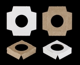 "3369 - 2 1/2"" x 2 1/2"" x 5/8"" Single Skinny Mini Cupcake Insert, Reversible White/Brown"