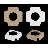 "3370 - 2 1/2"" x 2 1/2"" Single Mini Cupcake Insert,  Reversible White/Brown"