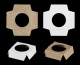 "3370 - 2 1/2"" x 2 1/2"" x 3/4"" Single Mini Cupcake Insert, Reversible White/Brown"