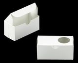 "3384 - 5"" x 2 1/2"" x 2 1/2"" White/White Lock & Tab Box with Window"