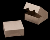 "3394 - 6"" x 6"" x 2 1/2"" Brown/Brown without Window, Timesaver Box With Lid. A09"