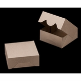 "3394 - 6"" x 6"" x 2 1/2"" Brown/Brown without Window, Timesaver Box With Lid"