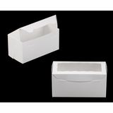 "3396 - 8"" x 4"" x 4"" White/White Lock & Tab Box with Window"