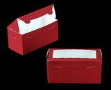 "3398 - 8"" x 4"" x 4"" Red/White Lock & Tab Box with Window"