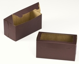 "3401 - 8"" x 4"" x 4"" Chocolate/Brown with Window, One Piece Lock & Tab Box with Lid. A10"