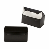 "3411 - 8"" x 4"" x 4"" Black/White Lock & Tab Box without Window"