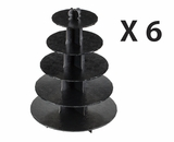 3414q6 - Black Cupcake Stands, 5 Tier Double Wall Corrugated. H10