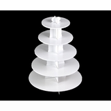 3415 - White Cupcake Stand, 5 Tier Double Wall Corrugated
