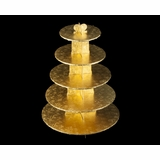 3417 - Gold Cupcake Stand, 5 Tier Double Wall Corrugated