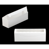 "3418 - 13"" x 4"" x 4"" White/White Lock & Tab Box with Window"