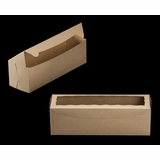 "3421 - 13"" x 4"" x 4"" Brown/Brown Lock & Tab Box with Window"