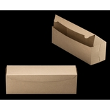"3422 - 13"" x 4"" x 4"" Brown/Brown Lock & Tab Box without Window"