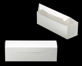 "3423 - 13"" x 4"" x 4"" White/White without Window, One Piece Lock & Tab Box With Lid. A19"