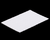 "3424 - 6 15/16"" x 4 7/16"" Candy Pad, White with White Core, 3-Ply Glassine Candy Box Liner"