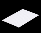 "3426 - 9 1/2"" x 6"" Candy Pad, White with White Core, 3-Ply Glassine Candy Box Liner"