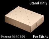 "3436 - 8 1/2"" x 6"" x 2"" Brown/Brown Cake Pop Stand for Sticks, 50 COUNT. C08"