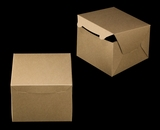 "3439 - 8"" x 8"" x 6"" Brown/Brown without Window, Lock & Tab Box With Lid. A24"