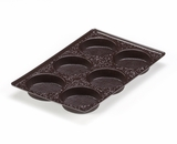 "3440 - 9 1/2"" x 6"" x 15/16"" Chocolate Brown 6 Cavity, Candy Tray. D03"