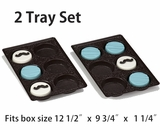 "3440x3440 - 2 pack set Chocolate Brown 6 Cavity Tray  9 1/2"" x 6"" x 15/16"" . D03xD03"