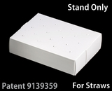 "3464 - 8 1/2"" x 6"" x 2"" White/White Cake Pop Stand for Paper Straws, 50 COUNT. C09"