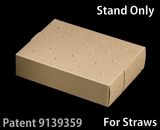 "3466 - 8 1/2"" x 6"" x 2"" Brown/Brown Cake Pop Stand for Paper Straws"