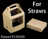 "3466x3435 - 8 1/2"" x 6"" x 8"" Brown/Brown Cake Pop Box Set for Paper Straws, 50 COUNT"