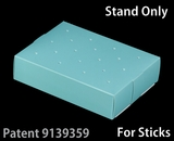 "3473 - 8 1/2"" x 6"" x 2"" Diamond Blue/White Cake Pop Stand for Sticks, 50 COUNT"