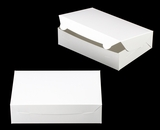 "3479 - 10"" x 7"" x 2 1/2"" White/White Lock & Tab Cookie Box without Window"