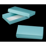 "3484x3526 - 7"" x 4 3/8"" x 1 1/4"" Diamond Blue/White Two Piece Simplex Box Set, without Window"