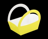 "3503 - 8 1/2"" x 6 1/4"" x 9 1/2"" Yellow/White Basket Box, 50 PACK. A09"