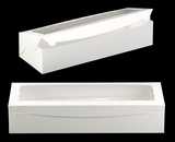 "3512 - 20"" x 7"" x 4"" White/White with Window, One Piece Lock & Tab Box With Lid"