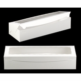 "3512 - 20"" x 7"" x 4"" White/White Lock & Tab Box with Window"