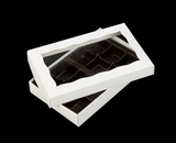 "3523x3518x3361 - 7"" x 4 3/8"" x 1 1/4"" White/White Two Piece Simplex Box with Window, and 12 Cavity Tray Set. B06xB05xB02"