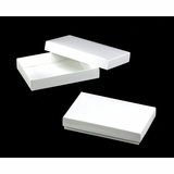 "3523x3527 - 7"" x 4 1/2"" x 1 1/4"" White/White Two Piece Simplex Box Set, without Window"