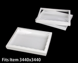 "3537x3520 - 12 1/2"" x 9 3/4"" x 1 1/4"" White/White Two Piece Simplex Cookie Box Set, with Poly Window"
