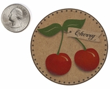 "3564 - 2 1/2"" Cherry Flavor Label, 50 Count. F01"