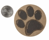 "3567 - 2 1/2"" Paw Print Favor Label, 50 Count. F01"