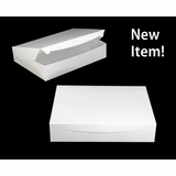 "3571 - 19"" x 14"" x 4"" White/White without Window, One Piece Lock & Tab Box with Lid, 50 COUNT"