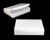 "3571 - 19"" x 14"" x 4"" White/White without Window, One Piece Lock & Tab Box with Lid, 50 COUNT. A31"