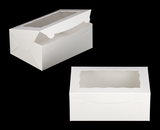 "3576 - 10"" x 7"" x 4"" White/White Lock & Tab Box with Window"