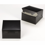 "3581 - 7"" x 7"" x 4"" Black/White Lock & Tab Box without Window"