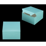 "3582 - 7"" x 7"" x 4"" Diamond Blue/White without Window, Lock & Tab Box With Lid"